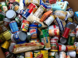 Food Drive donations organized by The Griffin School!